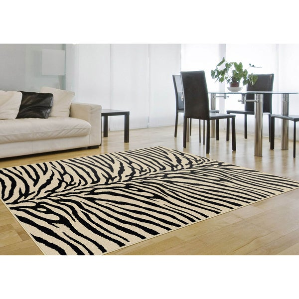 Alise Multicolored Abstract Rug (5' x 7')