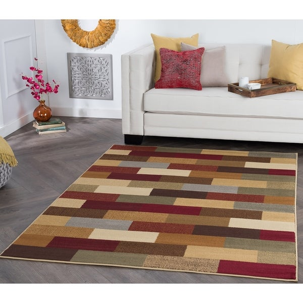 Alise Multi Abstract Area Rug - 5' x 7'