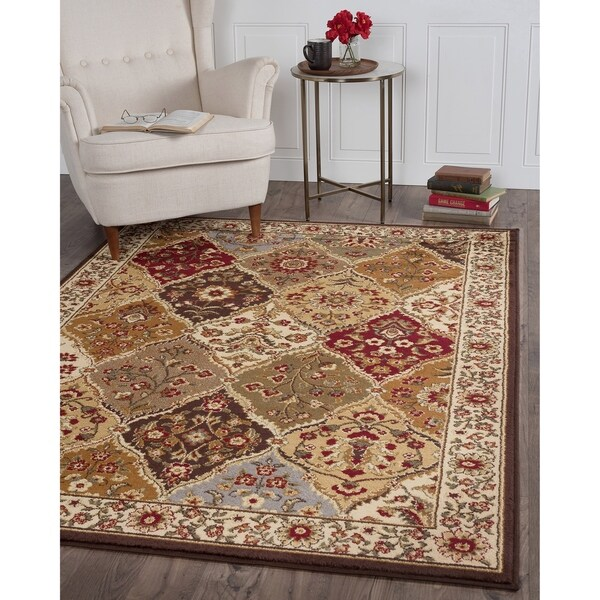 "Alise Traditional Ivory Abstract Area Rug (7'6"" x 9'10"") - 7'6 x 9'10"