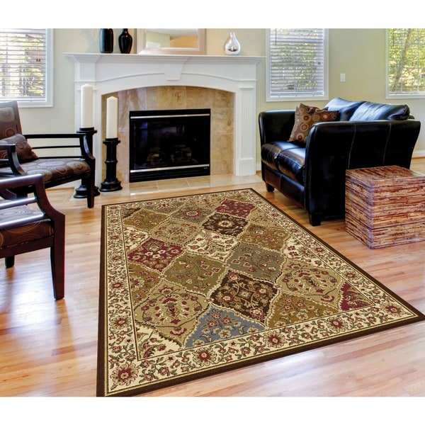 "Alise Traditional Ivory Abstract Area Rug (7'6"" x 9'10"")"