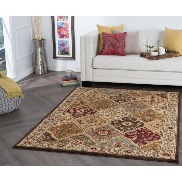 Alise Rugs Rhythm Traditional Abstract Area Rug - 7'6 x 9'10