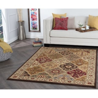Alise Traditional Ivory Abstract Area Rug - 7'6 x 9'10