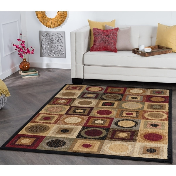 Alise Ivory/ Multi Abstract Area Rug - 7'6 x 9'10