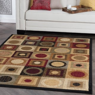 Alise Ivory/ Multi Abstract Area Rug (7'6 x 9'10)