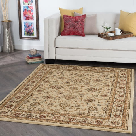 Alise Rugs Rhythm Traditional Floral Area Rug - 7'6 x 9'10