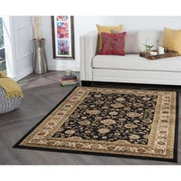 Alise Multi Collection Black Area Rug - 7'6 x 9'10