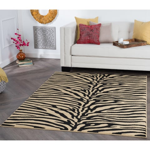 Alise Rugs Rhythm Transitional Animal Area Rug - 7'6 x 9'10