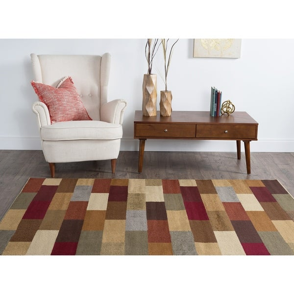 Alise Multi Color Collection Area Rug (7'6 x 9'10) - 7'6 x 9'10