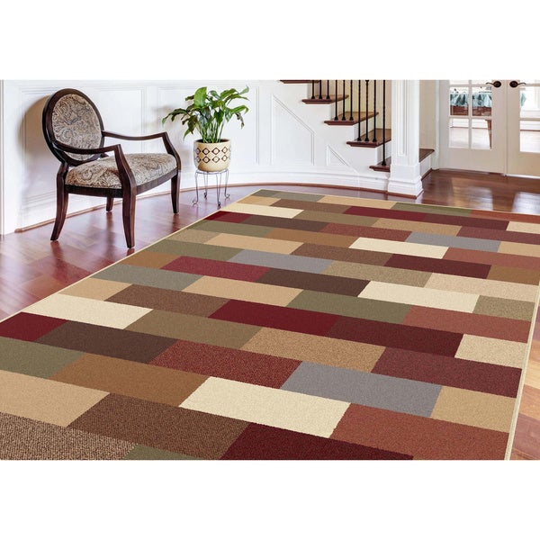Alise Multi Color Collection Area Rug (7'6 x 9'10)