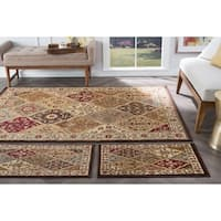 Alise Multi Collection 3-piece Set of Area Rugs - 1'8 x 5'/1'8 x 2'8/5' x 7'