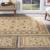 Alise Rugs Rhythm Traditional Floral Three Piece Set - 1'8 x 2'8/5' x 7'