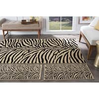 Alise Multi Collection Set of Three Zebra-Print Area Rugs Set