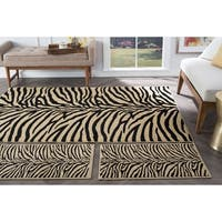 Alise Rugs Rhythm Transitional Animal Three Piece Set - 1'8 x 2'8/5' x 7'