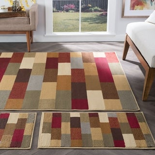 Alise Multi Collection Set of 3 Area Rugs - 1'8 x 5'/1'8 x 2'8/5' x 7'