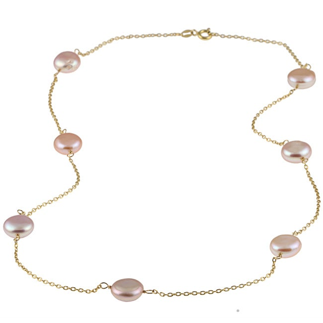 Gold over Silver Tin Cup Necklace