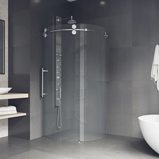 VIGO Sanibel Sliding Door Shower Enclosure with Left-sided Opening
