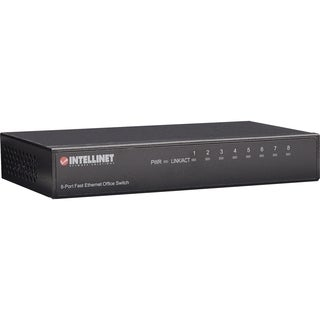 Intellinet 8-Port 10/100 Desktop Switch, Metal Housing