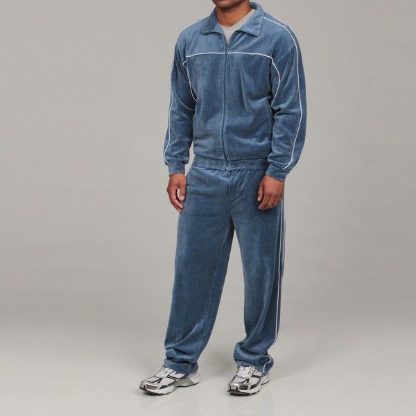Majestic Men's 2 Piece Velour Loungewear Set - Free Shipping Today ...