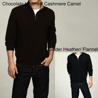 Oliver & James Men's Full Zip Cashmere Sweater FINAL SALE