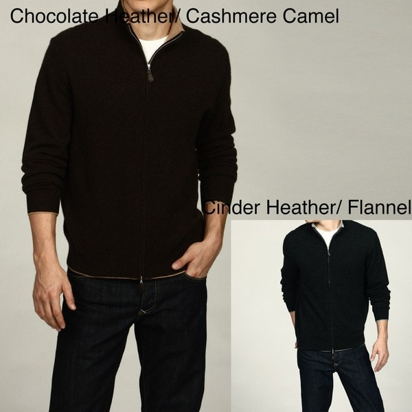 Oliver & James Men's Full Zip Cashmere Sweater FINAL SALE