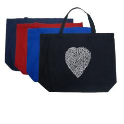 Los Angeles Pop Art 'Sonnet 18' Large Cotton Shopping Tote