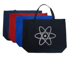 Los Angeles Pop Art 'Atom' Large Cotton Shopping Tote