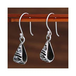 Sterling Silver 'Textures' Dangle Earrings (Mexico)