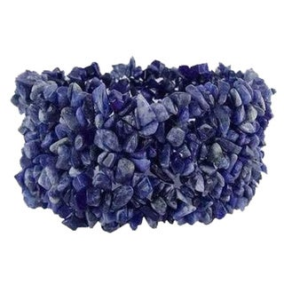 Handmade Sodalite 'Infinite Blue' Stretch Bracelet (India)