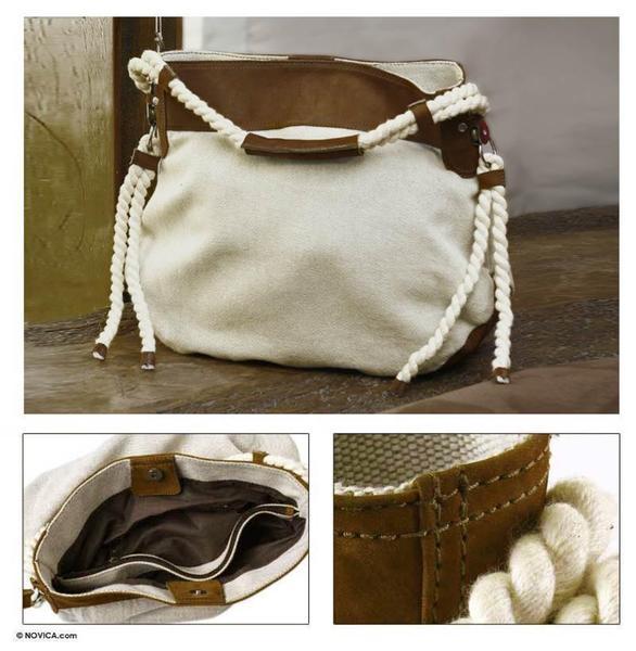 Cotton 'Naturally Elegant' Tote Handbag (Guatemala)
