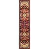"Safavieh Handmade Heritage Traditional Heriz Red/ Navy Wool Runner - 2'3"" x 20' Runner"
