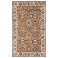 Safavieh Handmade Heritage Timeless Traditional Light Blue/ Ivory Wool Rug - 3' x 5'