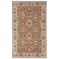Safavieh Handmade Heritage Timeless Traditional Light Blue/ Ivory Wool Rug (3' x 5')
