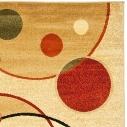 Safavieh Fine-spun Porcello Ivory/ Multicolored Area Rug (8' x 11' 2 ) - Thumbnail 1