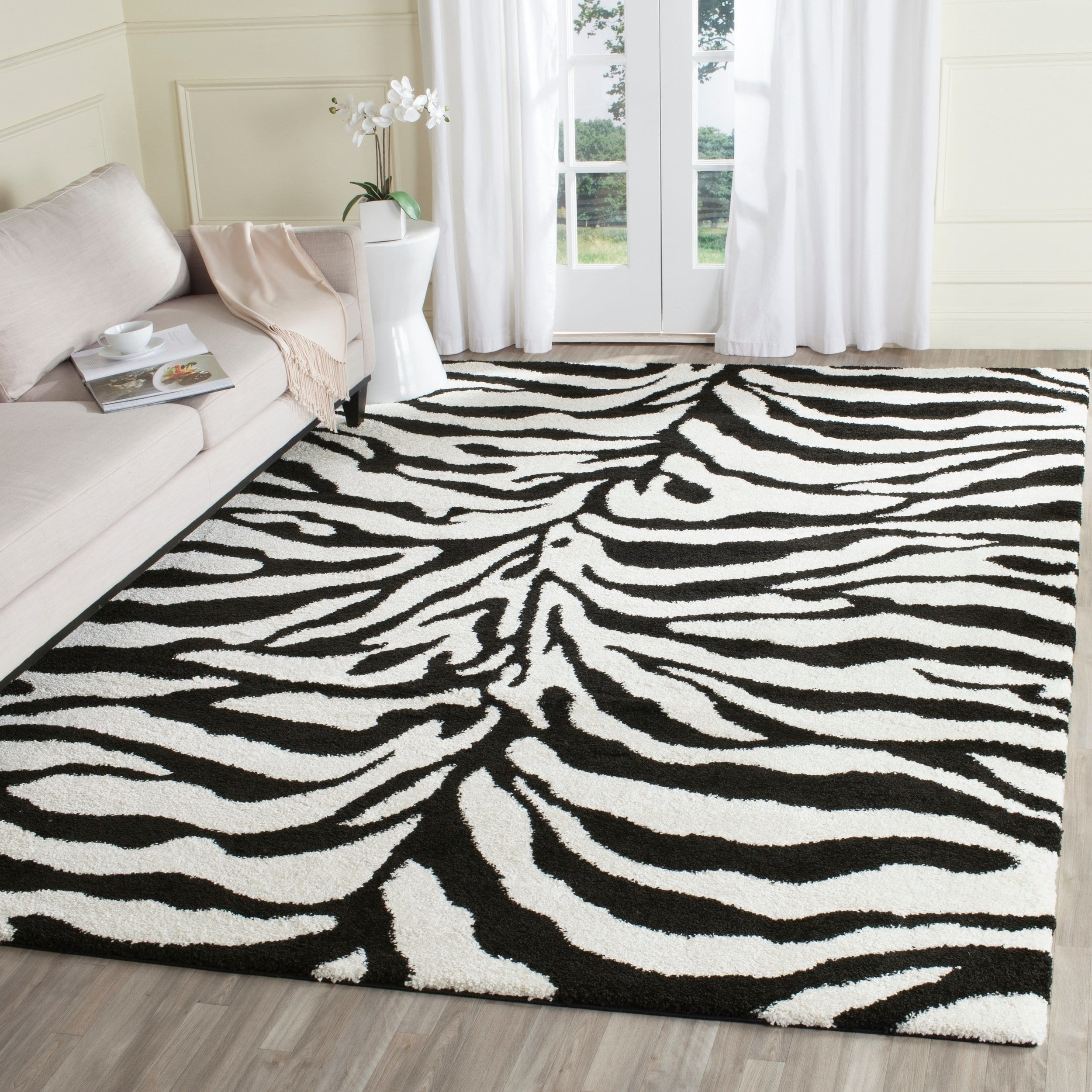 Safavieh Florida Shag Rozinka Zebra Animal Print Rug