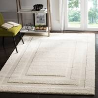 Safavieh Shadow Box Ultimate Cream Shag Rug - 4' x 6'