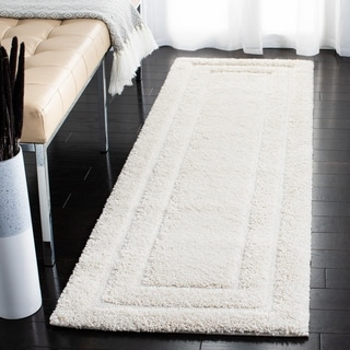 Safavieh Shadow Box Ultimate Cream Shag Rug (5'3 x 7'6)