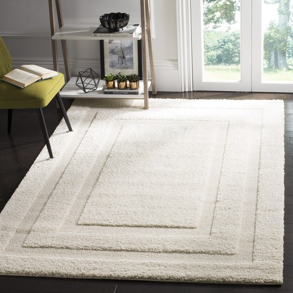 Safavieh Shadow Box Ultimate Cream Shag Rug (8' x 10')