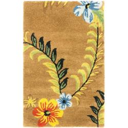 Safavieh Handmade Soho Brown New Zealand Floral Wool Rug (2' x 3')