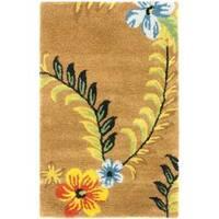 Safavieh Handmade Soho Brown New Zealand Floral Wool Rug - 2' x 3'