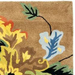 Safavieh Handmade Soho Brown New Zealand Wool Runner (2'6 x 8') - Thumbnail 1