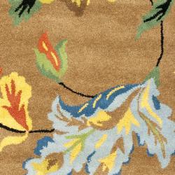 Safavieh Handmade Soho Brown New Zealand Wool Runner (2'6 x 8') - Thumbnail 2