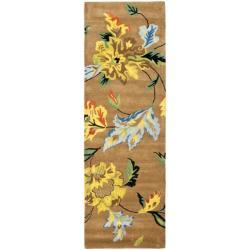 """Safavieh Handmade Soho Brown New Zealand Wool Runner (2'6 x 8') - 2'6"""" x 8' - Thumbnail 0"""