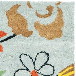 Safavieh Handmade Soho Blue New Zealand Wool Accent Rug (2' x 3') - Thumbnail 1