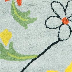 Safavieh Handmade Soho Blue New Zealand Wool Accent Rug (2' x 3') - Thumbnail 2