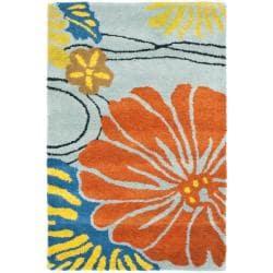 Safavieh Handmade Soho Blue New Zealand Wool Indoor Rug - 2' x 3' - Thumbnail 0