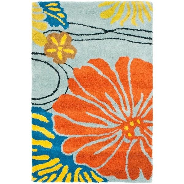 Safavieh Handmade Soho Blue New Zealand Wool Indoor Rug - 2' X 3'