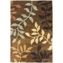 Safavieh Handmade Soho Brown/Multicolor Floral New Zealand Wool Rug (2' x 3')