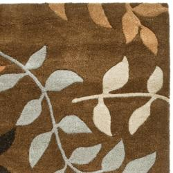 """Safavieh Contemporary Handmade Soho Brown/Multi New Zealand Wool Runner (2'6"""" x 8')"""