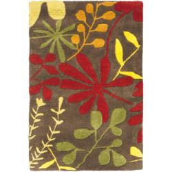 Safavieh Handmade Soho Brown/ Multi New Zealand Wool Rug (2' x 3')