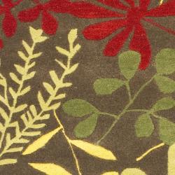 Safavieh Handmade Soho Brown/ Multi New Zealand Wool Runner (2'6 x 8') - Thumbnail 2